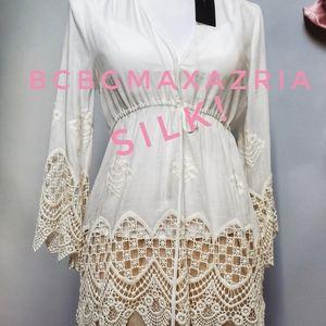 BNWT!!!! BCBGMAXAZRIA silk lace boho tunic